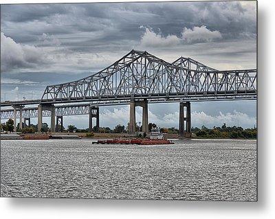 New Orleans Crescent City Connection Bridge Metal Print by Christine Till