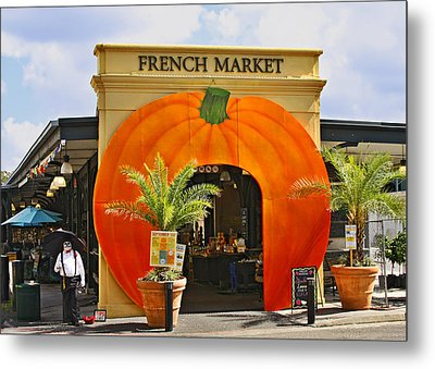 New Orleans French Market Metal Print