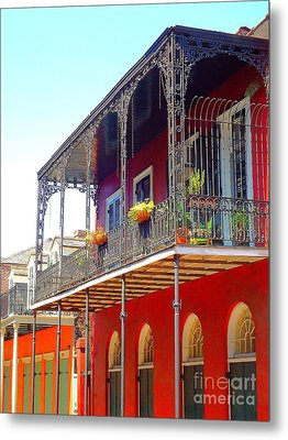 New Orleans French Quarter Architecture 2 Metal Print by Saundra Myles