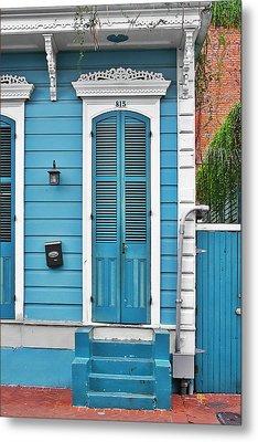 New Orleans Front Door Metal Print