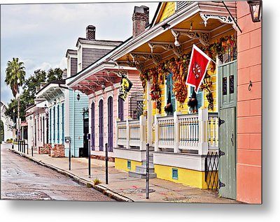 New Orleans Happy Houses Metal Print by Christine Till
