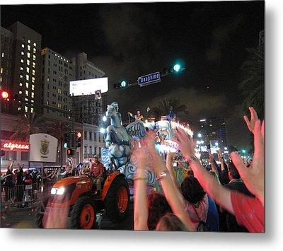 New Orleans - Mardi Gras Parades - 121244 Metal Print
