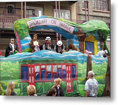New Orleans - Mardi Gras Parades - 121282 Metal Print by DC Photographer