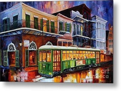New Orleans Old Desire Streetcar Metal Print by Diane Millsap