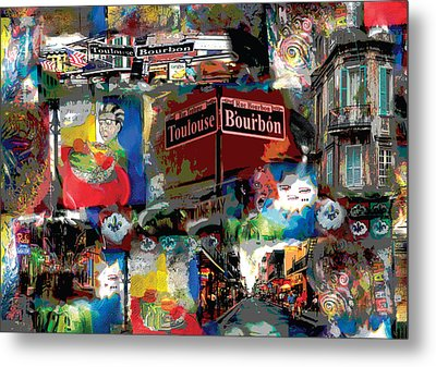New Orleans Party Metal Print
