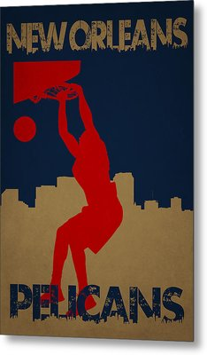 New Orleans Pelicans Metal Print by Joe Hamilton