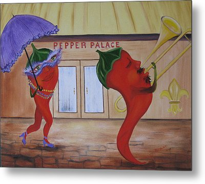 New Orleans Peppers Metal Print by RJ McNall