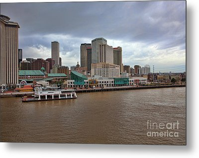New Orleans Riverfront Metal Print by Kay Pickens