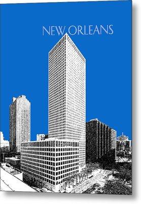 New Orleans Skyline - Blue Metal Print by DB Artist