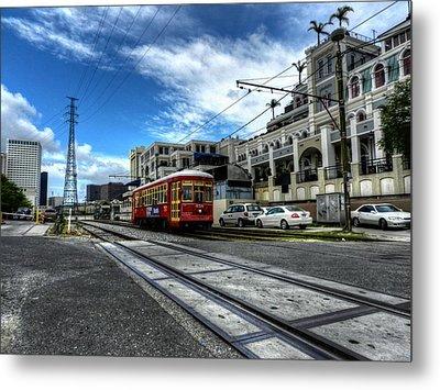 New Orleans Street Car 001 Metal Print by Lance Vaughn