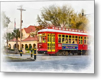 New Orleans Streetcar Paint Metal Print by Steve Harrington