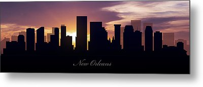 New Orleans Sunset Metal Print