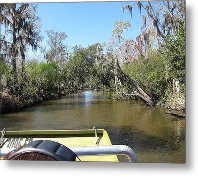 New Orleans - Swamp Boat Ride - 1212121 Metal Print