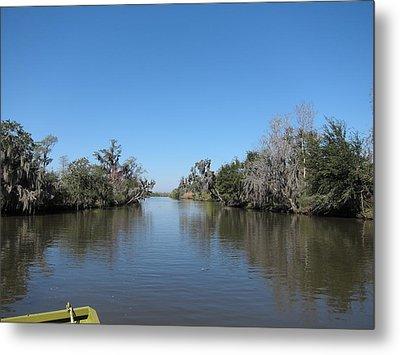 New Orleans - Swamp Boat Ride - 121243 Metal Print
