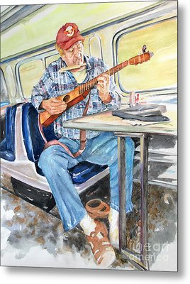 New Orleans Train To Hattiesburg Metal Print by Cynthia Parsons