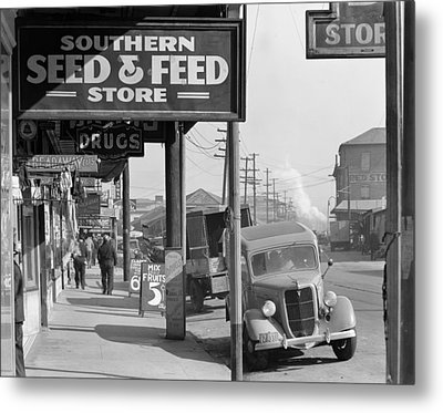 New Orleans Waterfront, 1935 Metal Print by Granger