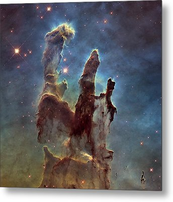 New Pillars Of Creation Hd Square Metal Print