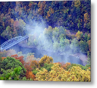 New River Canoe Landing Metal Print by Chris Flees