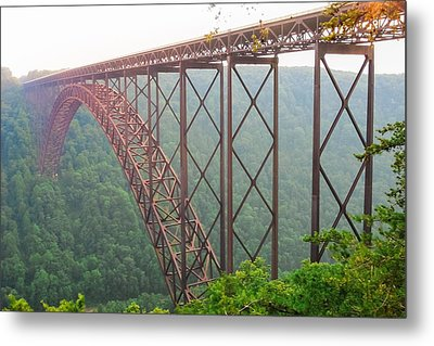 Metal Print featuring the photograph New River Gorge Bridge   by Lars Lentz