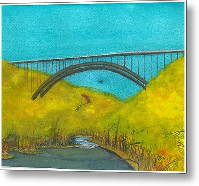 New River Gorge Bridge On Bridge Day Metal Print