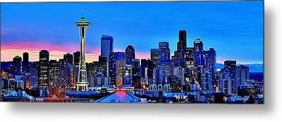 New Seattle Day Metal Print by Benjamin Yeager