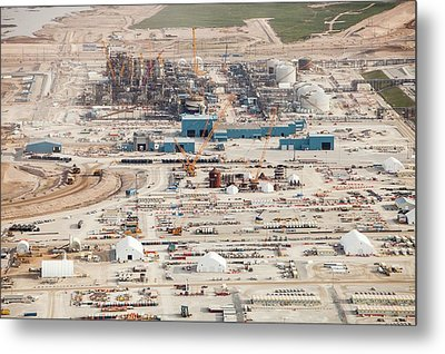 New Tar Sands Plant Being Constructed Metal Print by Ashley Cooper