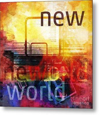 New World Metal Print by Lutz Baar