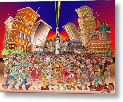 New Year City Metal Print by Paul Calabrese