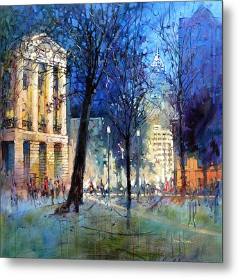 New Year's Eve Downtown Metal Print