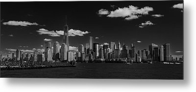 New York 1 Black And White Metal Print