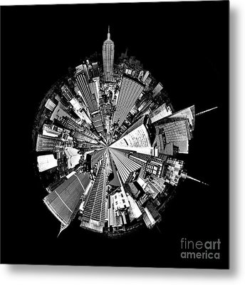 New York 2 Circagraph Metal Print
