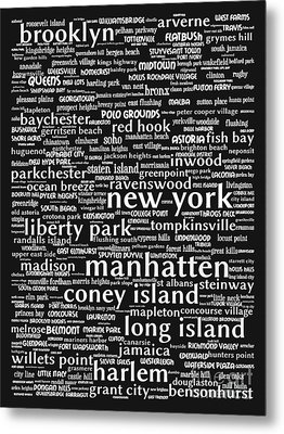 New York 20130709bw Metal Print by Wingsdomain Art and Photography