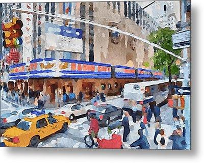New York 4 Metal Print by Yury Malkov