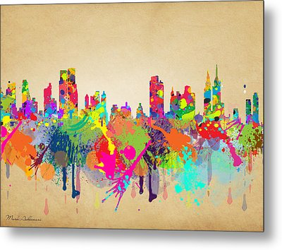 New York 5 Metal Print by Mark Ashkenazi
