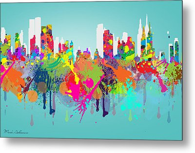 New York 7 Metal Print by Mark Ashkenazi