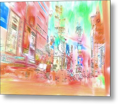 New York Abstract Metal Print by Tom Gowanlock