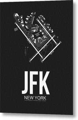 New York Airport Poster 1 Metal Print