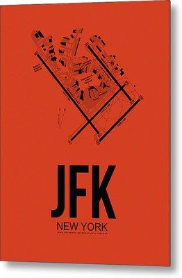 New York Airport Poster 2 Metal Print
