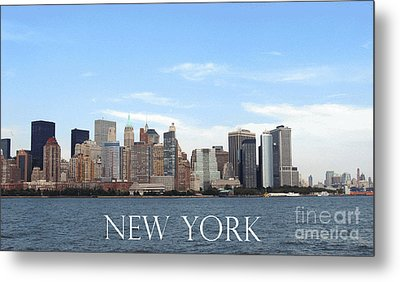 Metal Print featuring the photograph New York As I Saw It In 2008 by Ausra Huntington nee Paulauskaite