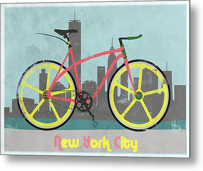 New York Bike Metal Print by Andy Scullion
