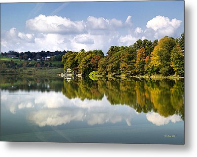 Metal Print featuring the photograph New York Cincinnatus Lake by Christina Rollo