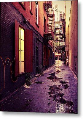 New York City Alley Metal Print by Vivienne Gucwa