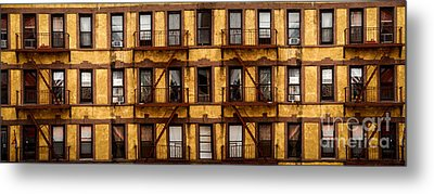 New York City Apartment Building Study Metal Print by Amy Cicconi