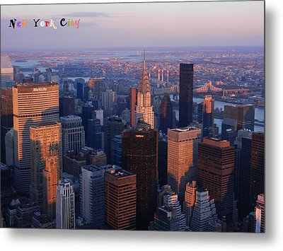 New York City At Dusk Metal Print by Emmy Marie Vickers