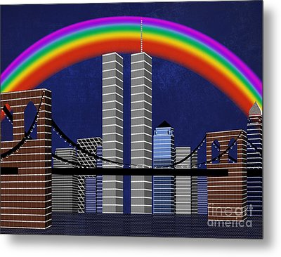 New York City Better Days 2 Metal Print by Andee Design