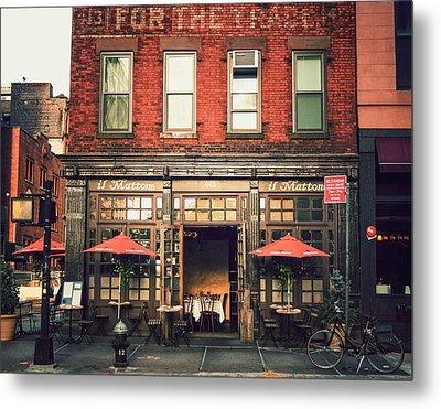 New York City - Cafe In Tribeca Metal Print