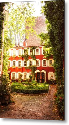 New York City - Charming Townhouses Metal Print by Vivienne Gucwa