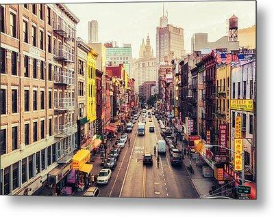 New York City - Chinatown Street Metal Print by Vivienne Gucwa