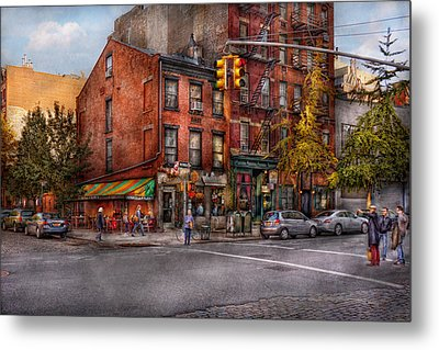 New York - City - Corner Of One Way And This Way Metal Print by Mike Savad