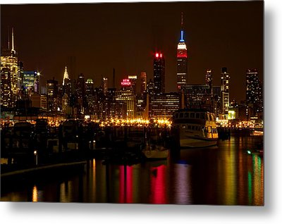 New York City Metal Print by Dave Files